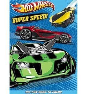 Hot Wheels Big Fun Book To Color - Super Speed